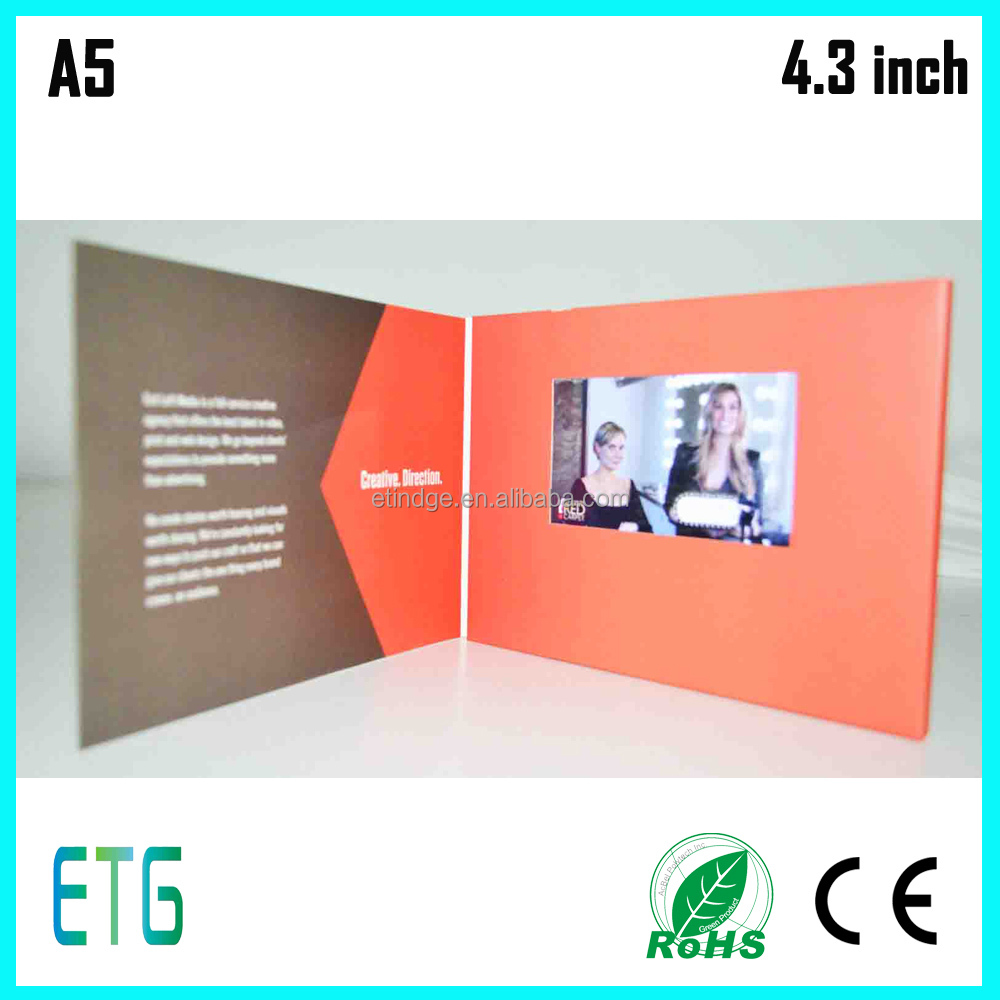 lcd video brochure/video greeting card for advertise and promotion