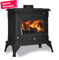 Budget Cast Iron Wood Burning Stove for sale