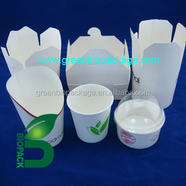 a Disposable Degradable Noddle Box food box