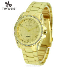 gold plated ladies bracelet wrist watch