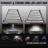 10-30V DC Voltage and Headlight Type 50 inch 288W 4x4 Cree Led Car Light Curved Led Light bar
