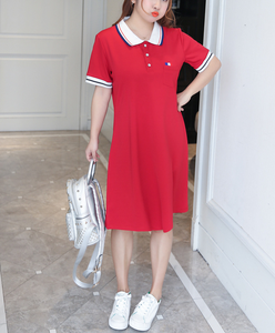 XS-4XL Big Plus Size Polo Casual Dresses T Shirt Female Summer Club Evening Dress