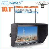 "hot RC toy 10.1"" built in 8G DVR monitor matches profesional drone with uav"