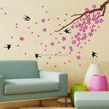 Tree and Swallow decorative wall sticker Eco-friendly PVC Wall Sticker