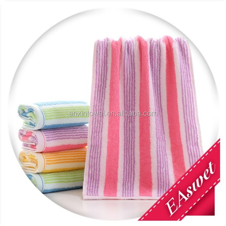 Gaoyang Supplier cheap jacquard stripes wholesale high quality 100% cotton towels fabric