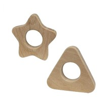 AS&NZS 8124 Standard Organic Beech Wooden Teether Toys Infant Teeth toy
