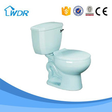W8002A Siphonic Sanitary Ceramic Light Blue Toilet