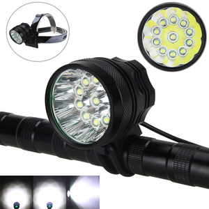 28000Lumen 11X XM-L T6 LED front Bicycle Bike Light Lamps Headlight Rechargeable+8.4v Battery set+Headband