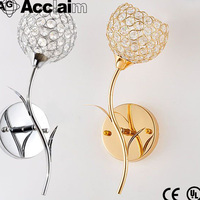 High quality modern round led light indoor crystal wall sconce