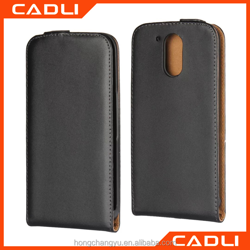 Luxury up and down leather case for MOTO G4 flip cover case PU mobile phone case