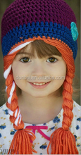 wholesale fashion cartoon frozen Anna Elsa knitted beanie hat