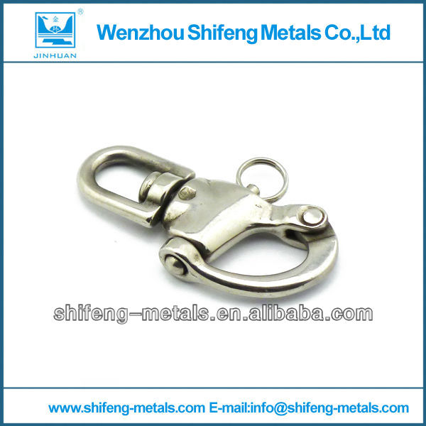 stainless steel Snap shackle;stainless steel jaw swivel snap shackles