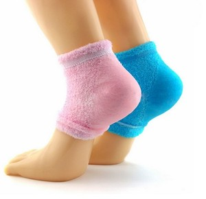 New arrival 3/4 sleeve feet moisturizer gel spa heel socks cooling moisture spa socks