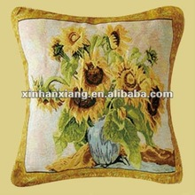 Soft Beautiful Decorative Sunflower Printed Square Cushion Cover CT-009
