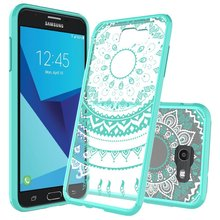 C&T Colors Cute Slim Fit Acrylic TPU Hybrid Bumper Protective Case For Samsung Galaxy J7 2017