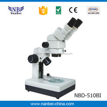 School using stereo binocular microscope with Diopter adjustment