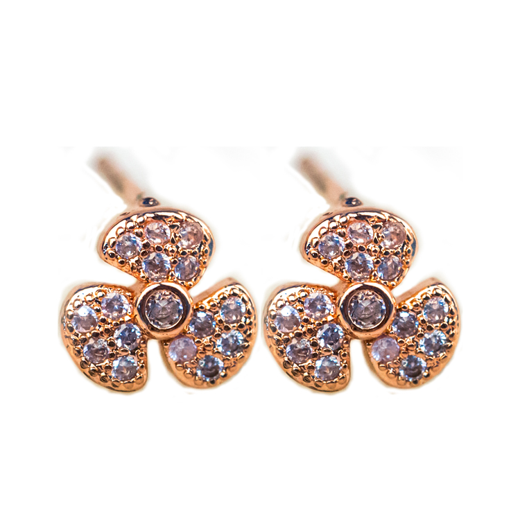 Hot selling fashion earrings designs new model earrings cute flower stud earrings for girls gifts