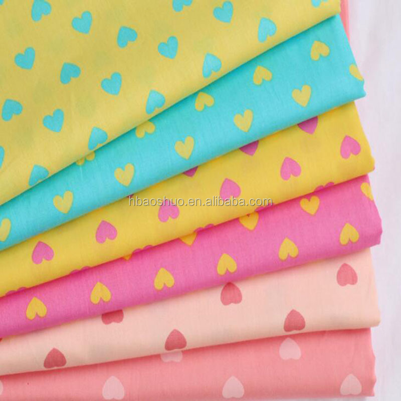 custom print cotton fabric for bed sheet fashion baby bedding set fabric