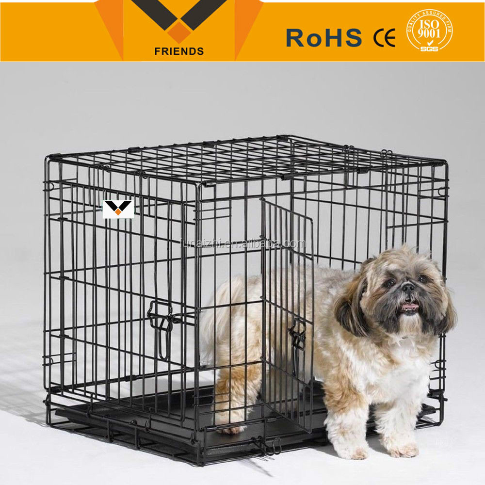 Stainless steel folding weld mesh dog cage