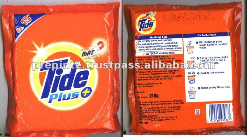 Tide Detergent Powder and bar