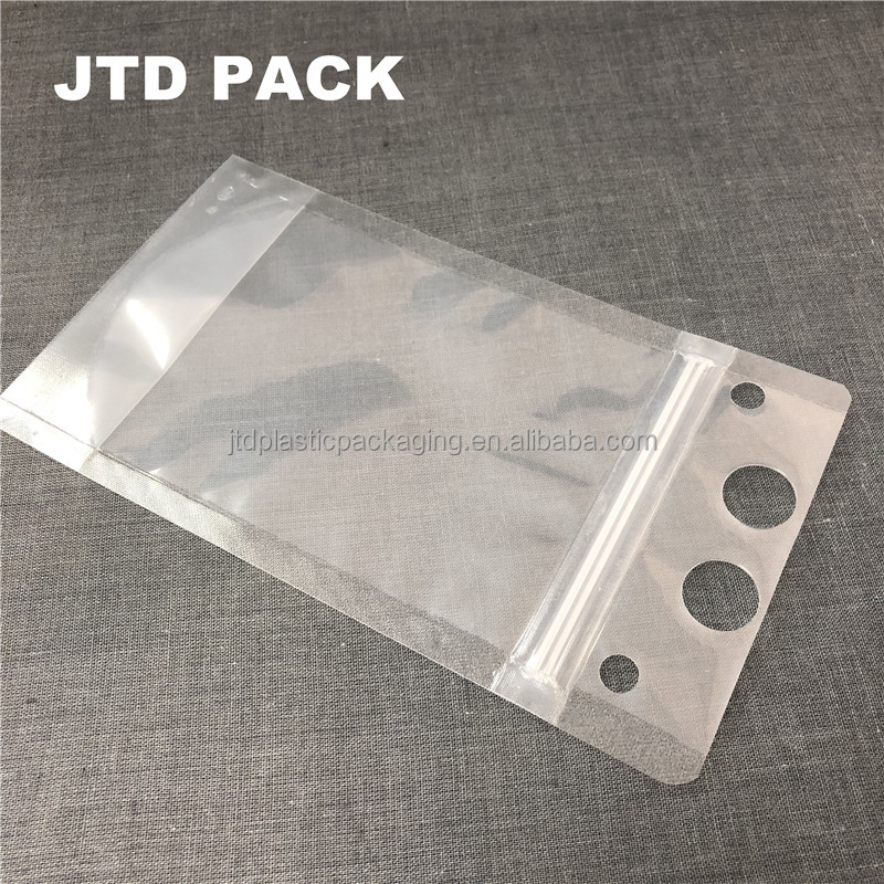 Qingdao JTD Manufacturer Supplies Wholesale No Leakage Disposable Alcohole Drinking Pouches With Double Ziplock