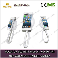 Wall mount acrylic mobile phone holder security,alarm phone holder