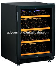 New design Fan cooling wine cabinet USF-54S(150 Liters 54 bottles) with single zone