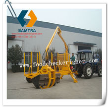 ZM1002 trailer sale price and crane to load and unload woods in forestry with CE Certificate
