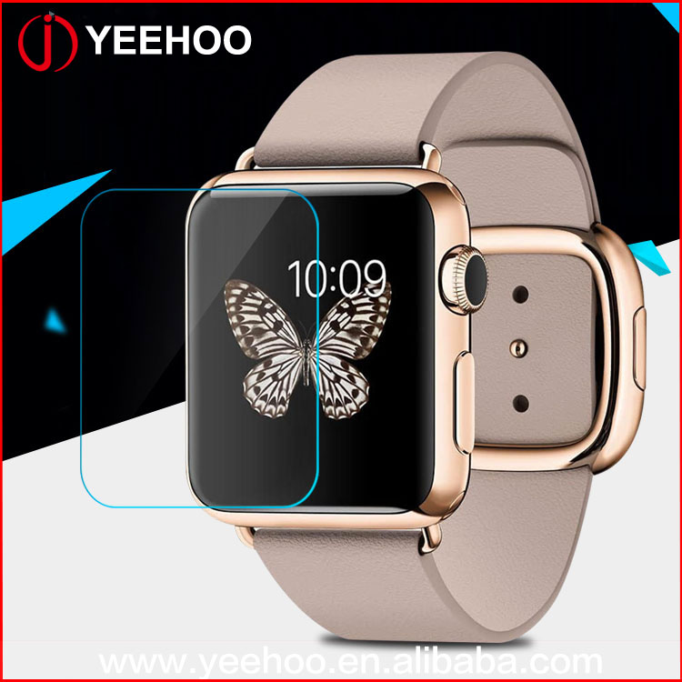 38mm 42mm clear screen protector tempered glass screen guard for apple smart watch