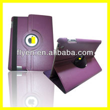 360 Degree Rotating PU Leather Case for iPad 4 3 2 Smart Cover w Magnetic Swivel Stand for Apple iPad Accessories Purple