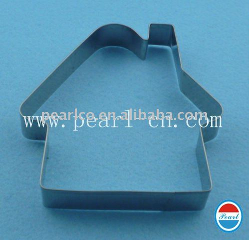 house shaped stainless steel cookies mold