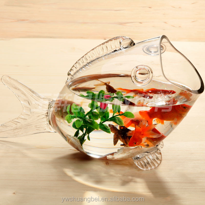 Hot Sale Fish Shaped Glass Fish Bowl, Aquarium, Fish Tank