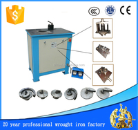 automatic used steel bar flat iron wrought iron scrolling bending machine