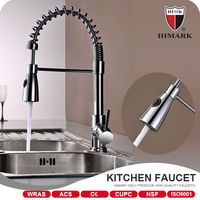 Hot selling push down kitchen faucet installation tap with UPC