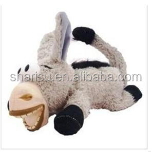 factory china soft animal laughing rolling donkey plush toy yiwu market