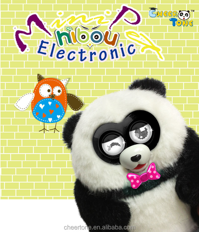 Cute Plush Talking Electronic Panda Pets for kids Interacte With Tabletpcor Smart Phone