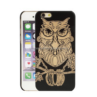 Plastic + Natural Wood Case for iPhone 7, Back Cover Clear Case customized back hard case for iPhone 6 Plus, for iPhone 7