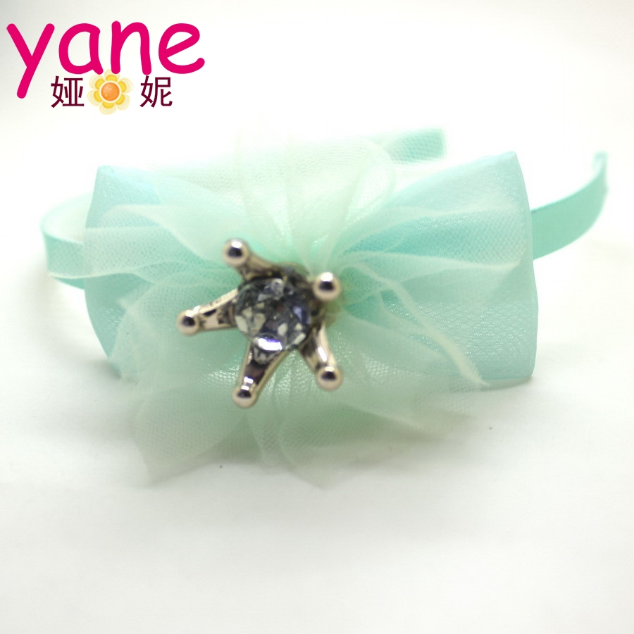Wholesale rhinestone headband fashion hair bow headband for baby girls