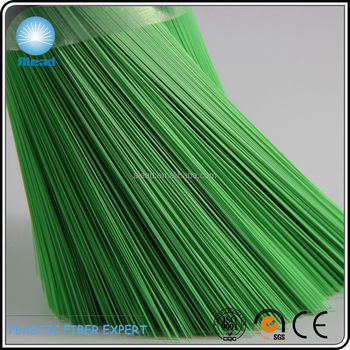 Extremely Shiny PET Polyester Plastic Fiber 0.35mm green for Brooms and Besoms