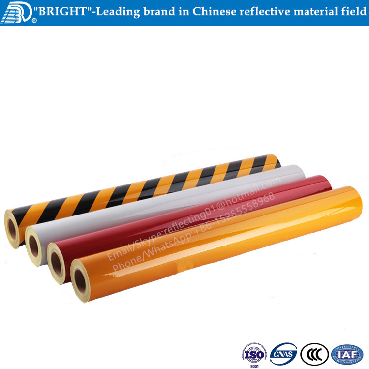 Road safety retro reflective protection tape for traffic cone