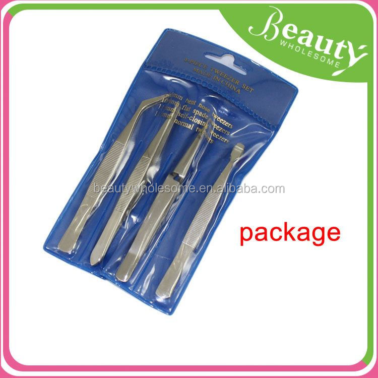 fashion lady tweezers ,H0T008, stainless steel series slanted high precise tweezer