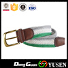 Mixed Color Hairy Cotton Belt Striped Knitted Canvas belts