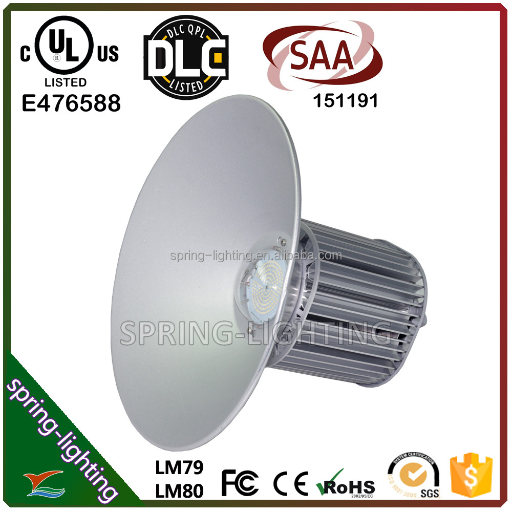 UL CUL DLC SAA listed 100w 150w 200w 300w high efficency energy saving LED Highbay light replaces traditional metal halide
