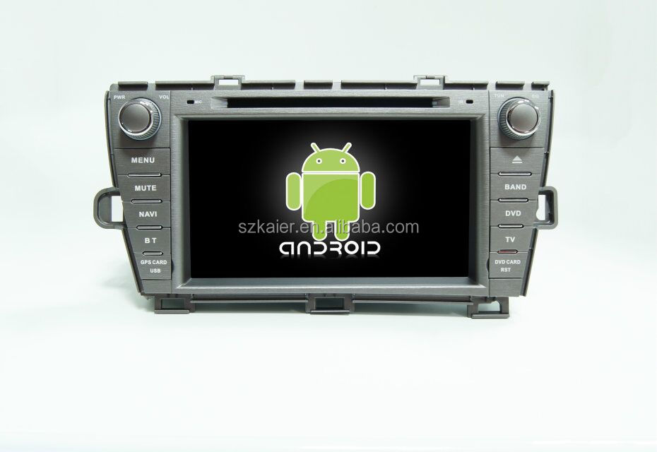 Quad core android car media player,BT,mirror link,DVR,SWC for Toyota Prius