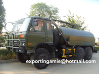 dongfeng 10000 liters 6wd 6x6 vacuum suction toilet truck