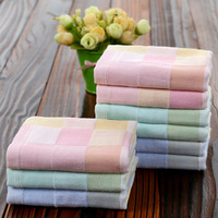 hot sale muslin towel100% cotton baby towel high quality yarn dyed face towel for wholesale made in china