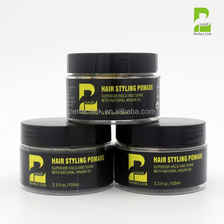 Hot Sale GMPC And ISO Certification Wax Form Strong Hold Hair Pomade (100ml ) OEM/ODM/Private Label