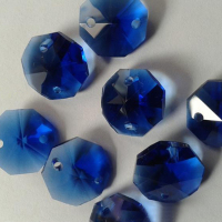 Colorful 14mm Octagon Glass Crystal Bead
