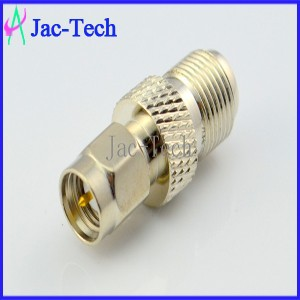 Factory price brass material SMA male straight to F female cable adapter coaxial connector