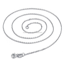 45CM Necklace Chain 925 Sterling Silver Lobster Clasp Adjustable Simple Chain Fashion Necklace Jewelry